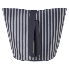 ferm LIVING Aufbewahrungskorb Chambray Striped M •
