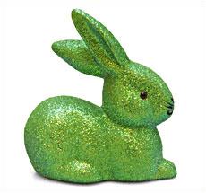 Osterhase mit Glimmer Grün