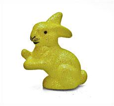 Kleiner Osterhase mit Glimmer Gelb •