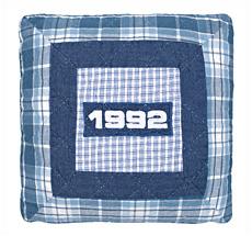 GreenGate Kinder-Kissenhülle Baseball 1992 Blue 40x 40 cm •