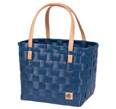 Handed By Tasche Shopper Color Block beige farbener Henkel Ocean blue
