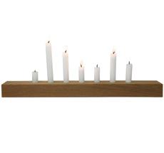Raumgestalt Kerzenhalter Brennholz Eiche dunkel 60x5x5 cm