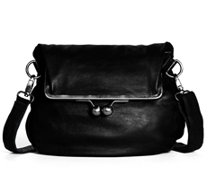 Sticks and Stones Ledertasche Cannes Black Washed