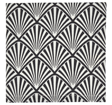 Gate Noir by GreenGate Stoff-Serviette Celine Dark Grey 40x40