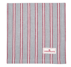 GreenGate Stoffserviette mit Spitze Riley Pale Grey