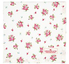 GreenGate Tischdecke Abigail White 100x100cm