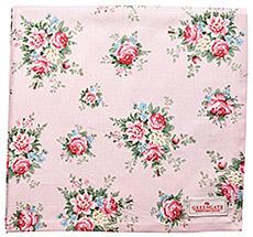 GreenGate Tischdecke Aurelia Pale Pink 150x150cm
