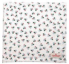 GreenGate Tischdecke Joselyn White 150x150cm •