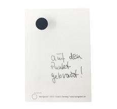 Raumgestalt Zettel mit einem DotNail auf einem Eichenklotz DIN A6