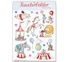 krima & isa Fensterbild Zirkus •