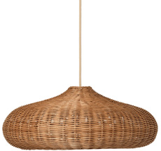 ferm LIVING Lampenschirm Braided Disc Natural