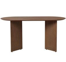 ferm LIVING Tischplatte Mingle Oval 150 cm Walnut Veneer