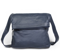 Sticks and Stones Ledertasche Flap Bag Navy Blue