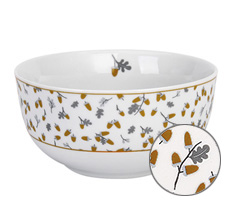 Krasilnikoff Schüssel Happy Bowl Golden Acorns
