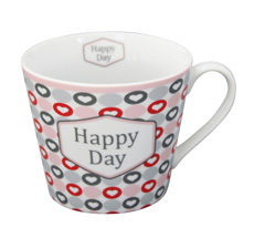 Krasilnikoff Tasse Happy Cup Happy Day