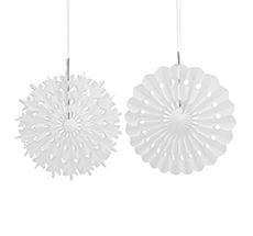 House Doctor Deko-Ornament Cut Weiß S 8er-Set •