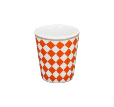 Krasilnikoff Eierbecher Harlekin Orange •