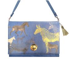 Disaster Designs Clutch Handtasche Heritage & Harlequin Zebra