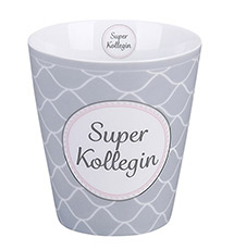 Krasilnikoff Happy Mug Becher Super Kollegin