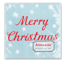 krima & isa Servietten Merry Christmas 20 Stück •