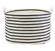 House Doctor Aufbewahrungskorb Stripes Black/White