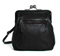 Sticks and Stones Ledertasche Lyon Black Washed