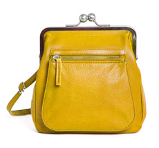Sticks and Stones Ledertasche Lyon Yellow Washed