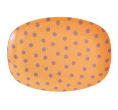 Rice Kleiner Melamin Teller Oval Lavender Dot