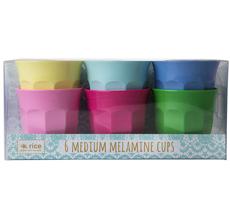 Rice Melamin Becher Curved Classic Colors 6er-Set