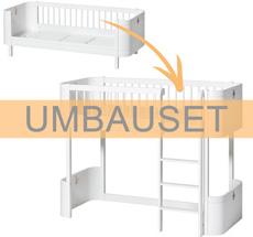 Oliver Furniture Umbauset Wood Mini+ Juniorbett zum halbhohen Hochbett Weiß