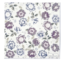 GreenGate Papierserviette Beatrice Pale Grey Large 20 Stk.
