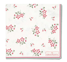 GreenGate Papierserviette Avery White Small 20 Stk.