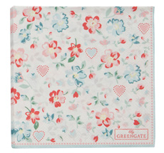 GreenGate Papierserviette Merla White Small 20 Stk.
