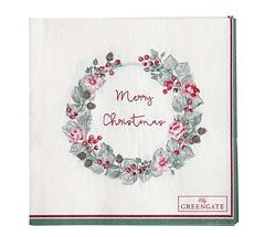GreenGate Papierserviette Merry Christmas White Small 20 Stk.