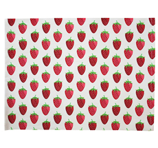 Krasilnikoff Platzset Strawberry White