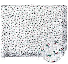 GreenGate Quilt Tagesdecke Joselyn White mit Rüsche 140x220cm •