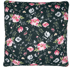 GreenGate Kissenhülle Meadow Black 50x50 •
