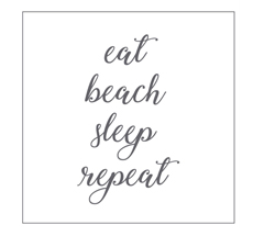 Krasilnikoff Papierserviette eat, beach, sleep, repeat