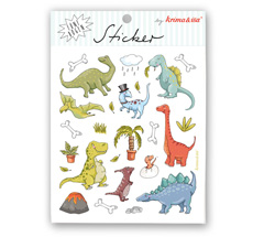 krima & isa Sticker Dinos 5 Bögen