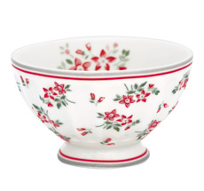 GreenGate French Bowl Avery White M