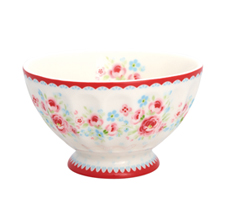 GreenGate French Bowl Tess White M