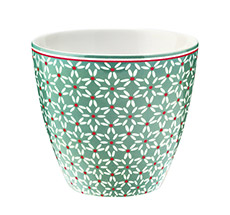 GreenGate Latte Cup Becher Juno Green