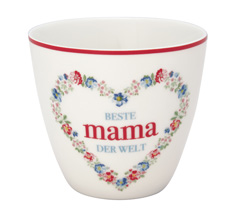 GreenGate Latte Cup Becher Mama White