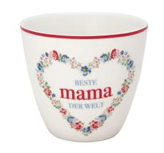 GreenGate Latte Cup Becher Mama White
