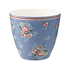 GreenGate Latte Cup Becher Nicoline Dusty Blue