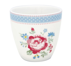 GreenGate Mini Latte Cup Becher Evie White