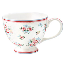 GreenGate Teetasse Nicoline White