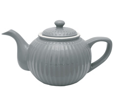 GreenGate Teekanne Alice Stone Grey