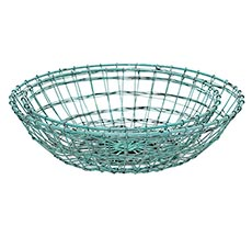 GreenGate Metallkorb Rund Mint 2er-Set •