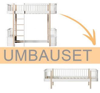 Oliver Furniture Umbauset Wood Hochbett zum Bettsofa Weiß/Eiche